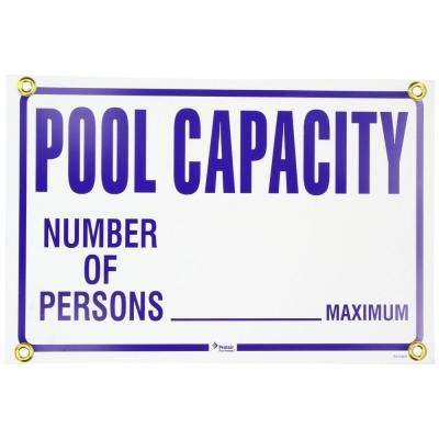18 in. x 12 in. Rainbow Pool Capacity Sign