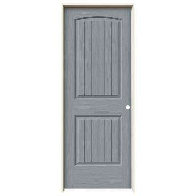 32 in. x 80 in. Santa Fe Stone Stain Left-Hand Solid Core Molded Composite MDF Single Prehung Interior Door