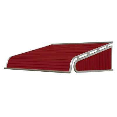 8 ft. 1500 Series Door Canopy Aluminum Awning (21 in. H x 60 in. D) in Brick Red