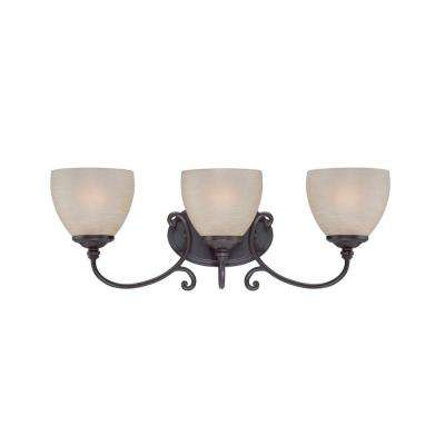 Tangier 3-Light Natural Iron Bath Bar Light