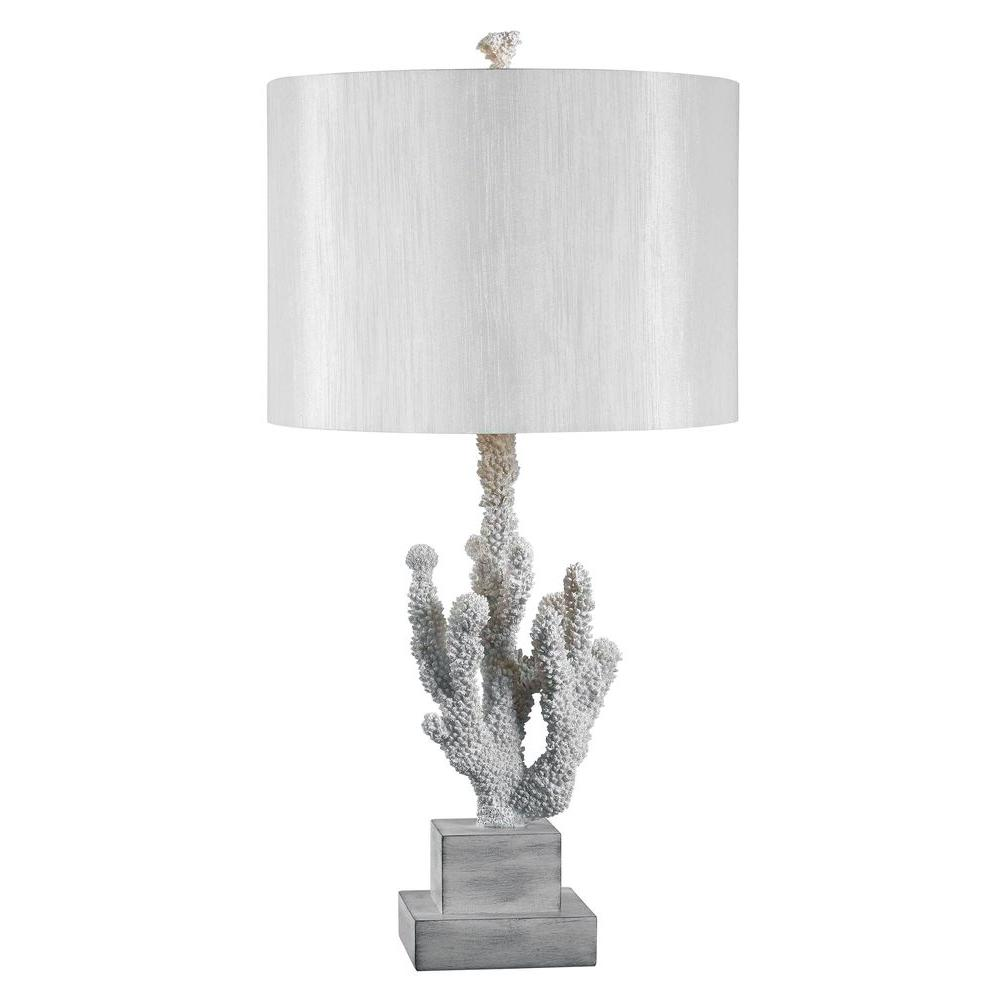 Kenroy Home Coral 28 In White Table Lamp 32166wh The