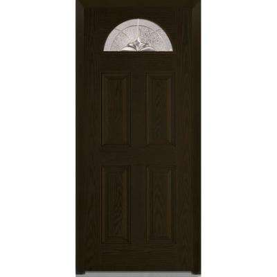 32 X 80 14 Lite Dark Brown Wood Doors With Glass Fiberglass