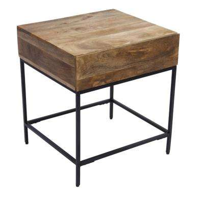 Brown Side Table With Stylish Design
