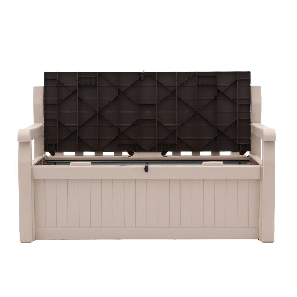 Fine Keter Eden 70 Gal Outdoor Garden Patio Deck Box Bench In Beige And Brown Gmtry Best Dining Table And Chair Ideas Images Gmtryco