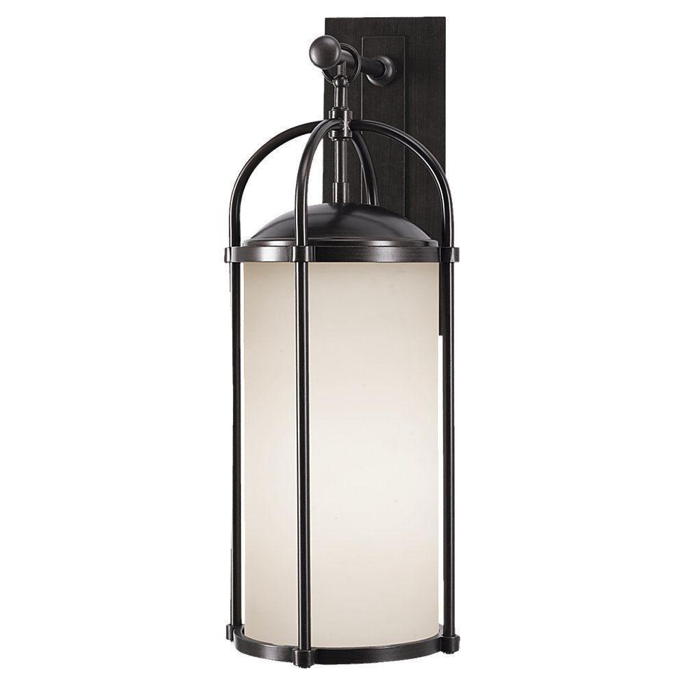 Dakota 1-Light Espresso Outdoor 24.75 in. Wall Lantern Sconce