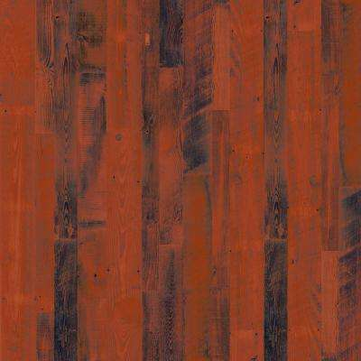 8 in. x 10 in. Laminate Sheet in Rancho Red Pine with Virtual Design Gloss Line Finish