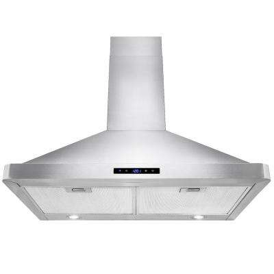 30 in. Convertible Kitchen Wall Mount Range Hood in Stainless Steel with LEDs Touch Control and Carbon Filters