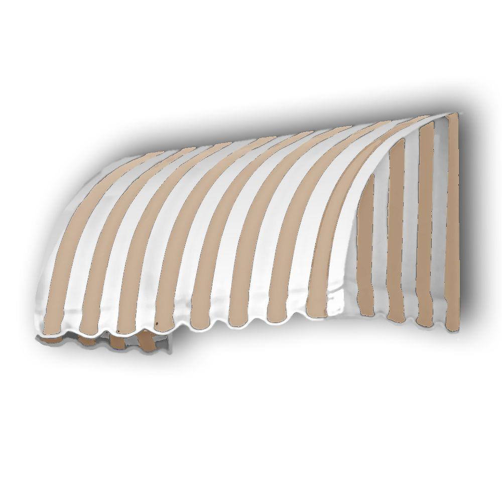 AWNTECH 45 ft. Savannah Window/Entry Awning (44 in.H x 36 in.D) in in Linen/White Stripe Stripe