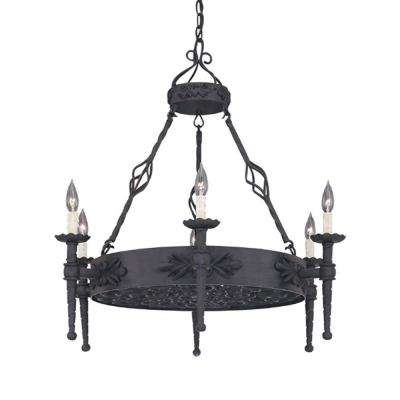 Florence 6-Light Natural Iron Hanging Chandelier