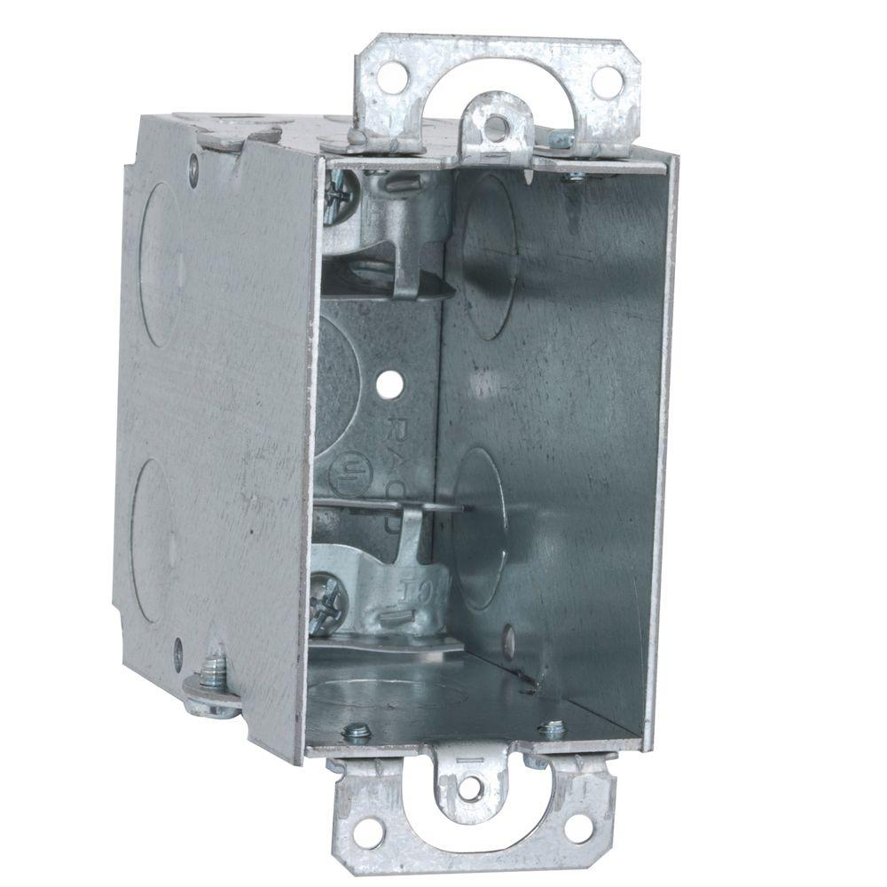 3-1/2 in. Deep Gangable Switch Box with Armored Cable/Metal Clad/Flex Clamps
