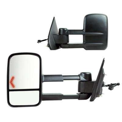 Towing Mirror for 14-17 Silverado/Sierra 15-17 25003500 Textured Black with Signal 1st Design Foldaway Pair