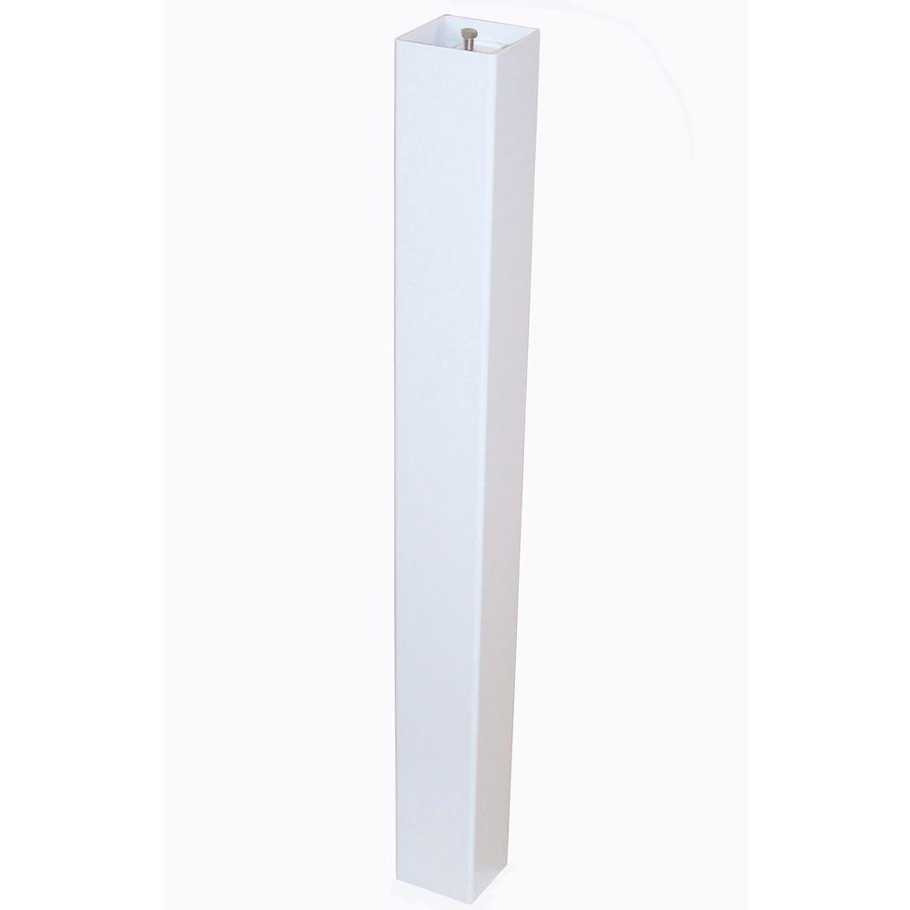 Keystone Aluminum Standard Mailbox Post in White