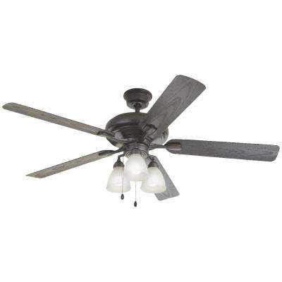 Trentino II 60 in. LED Indoor/Outdoor Natural Iron Ceiling Fan