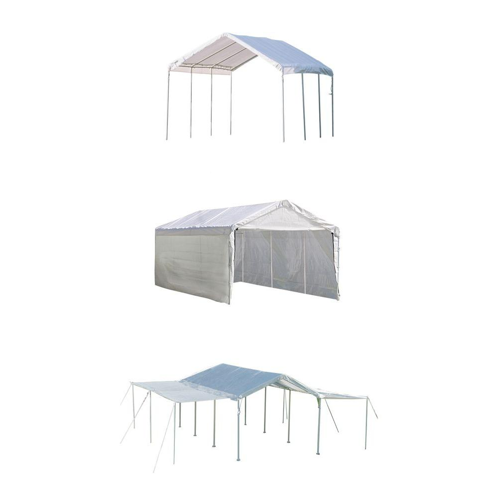 ShelterLogic Max AP 10 ft. x 20 ft. 3-in-1 White Canopy w...