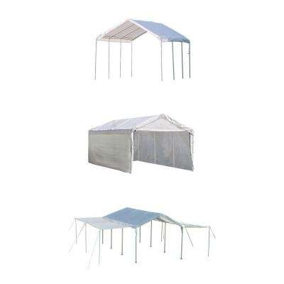 Max AP 10 ft. x 20 ft. 3-in-1 White Canopy with Enclosure and Extension Kits