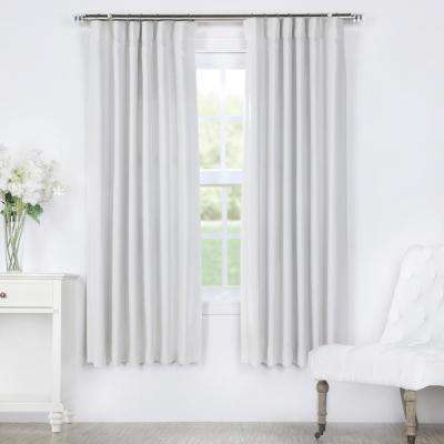 Chalk Off White Bellino Blackout Room Darkening Curtain - 50 in. W x 63 in. L