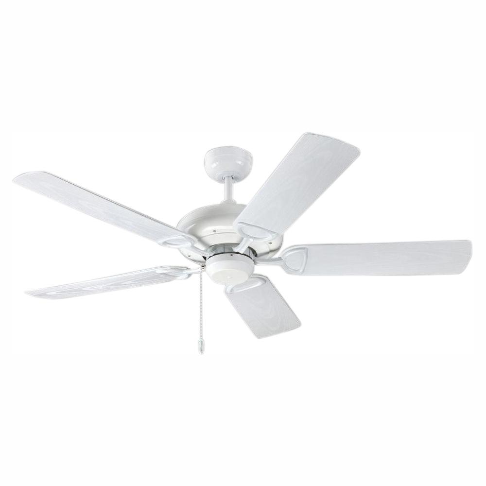 TroposAir ProSeries Deluxe Builder 52 in. Pure White Outdoor Ceiling Fan
