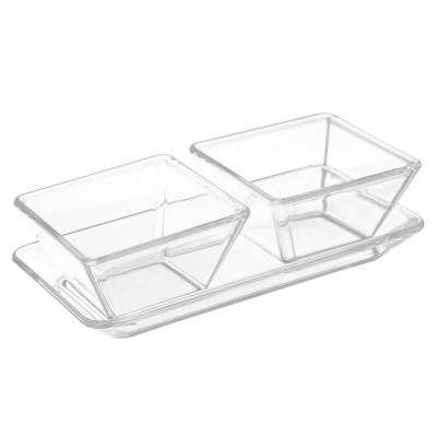 2-Dish Serving Tray Set