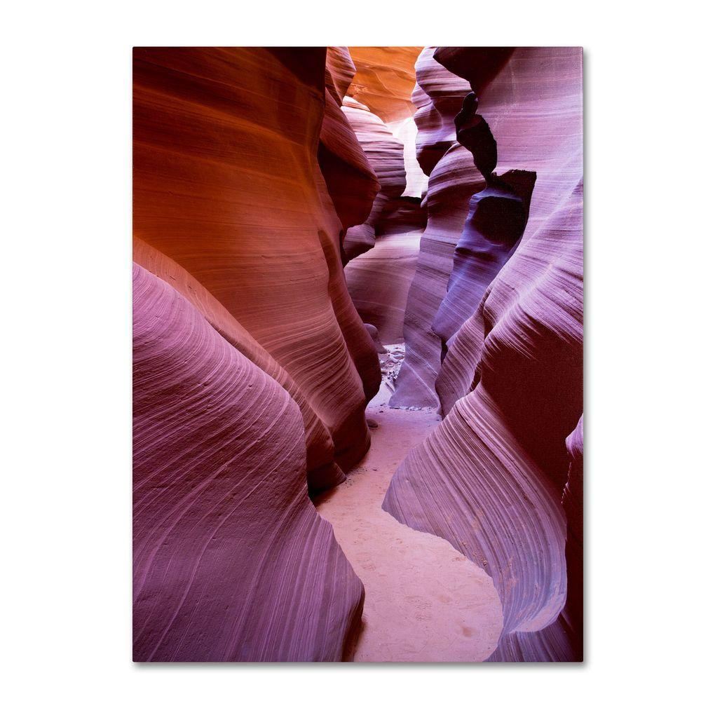 30 in. x 47 in. Antelope Canyon 2 Canvas Art