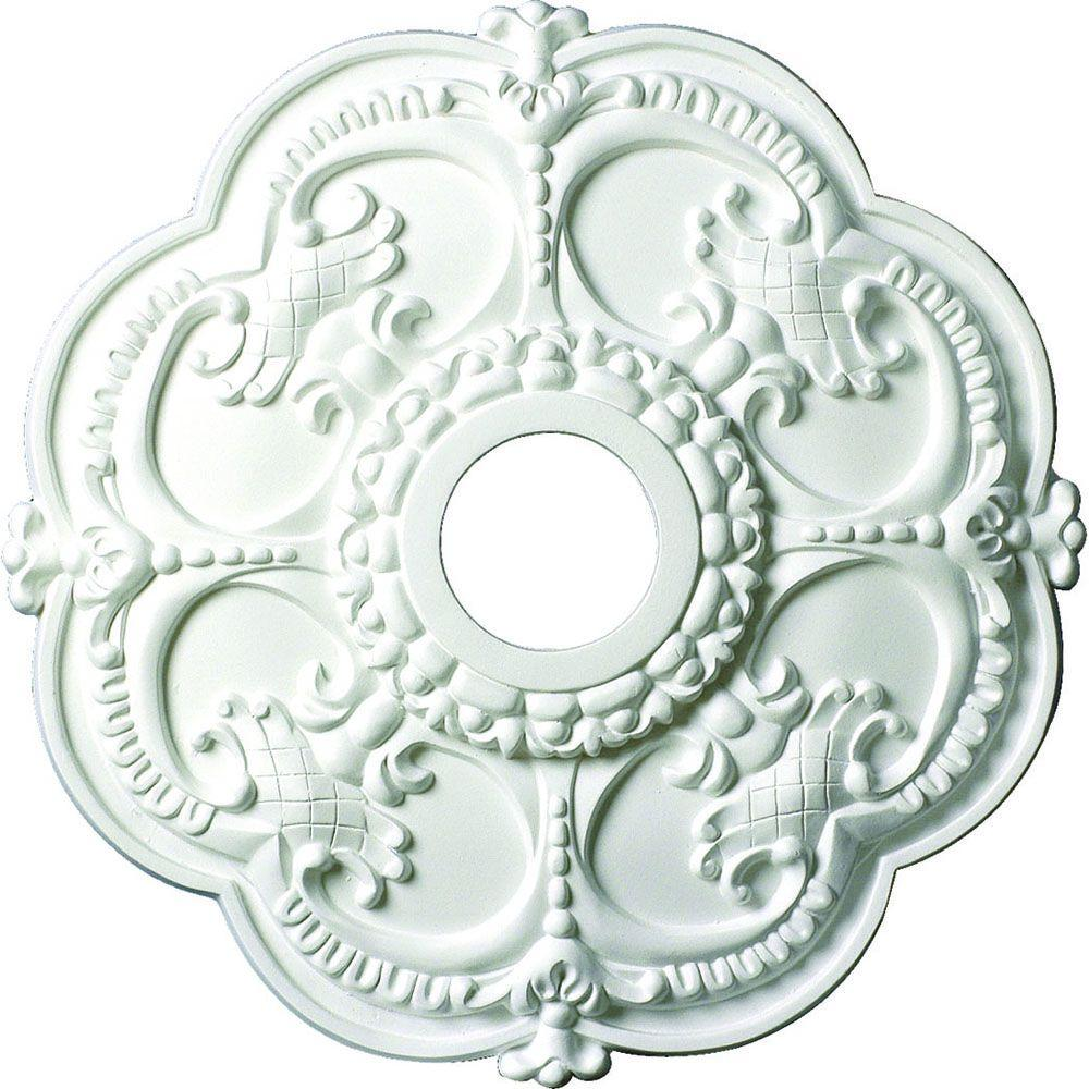 American Pro Decor 18 in. x 1-1/2 in. Floral Polyurethane Ceiling Medallion