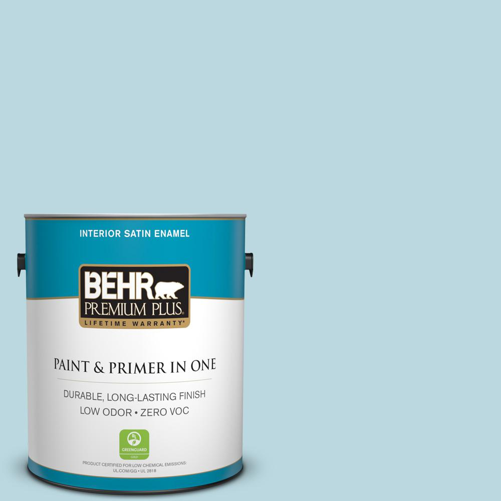 1-gal. #S460-1 Air Blue Satin Enamel Interior Paint