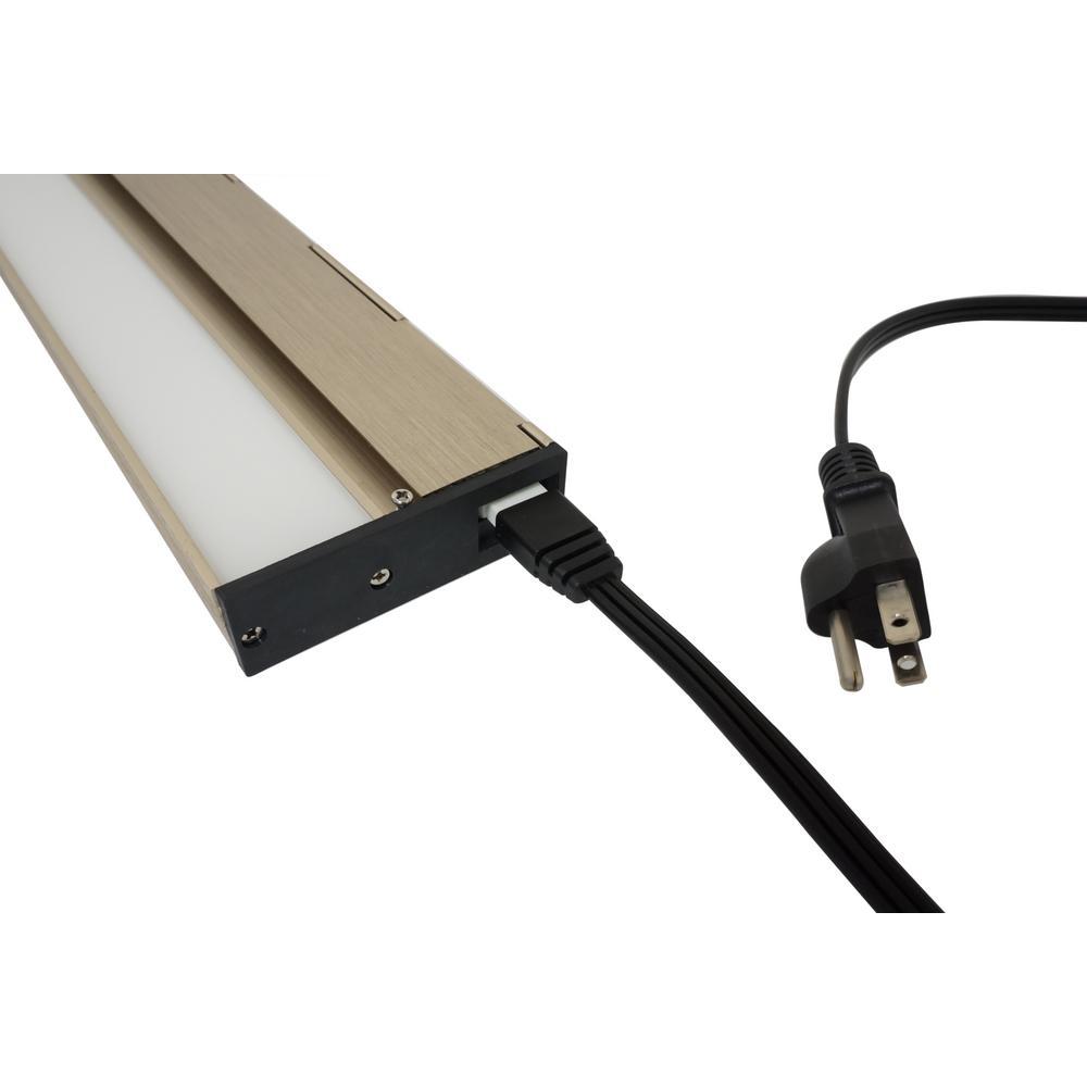 NICOR 72 in. Plug for Linkable Undercabinet Lights, Black