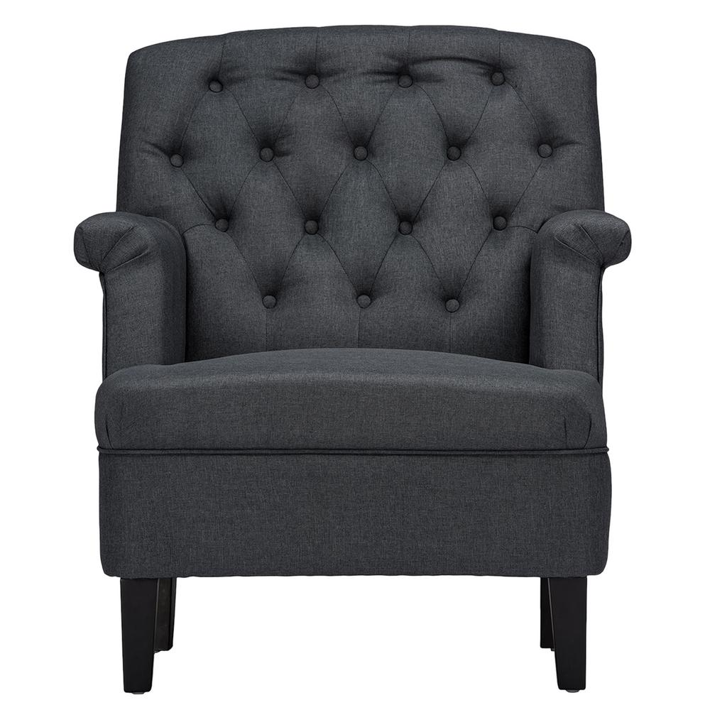 Jester Contemporary Gray Fabric Upholstered Accent Chair