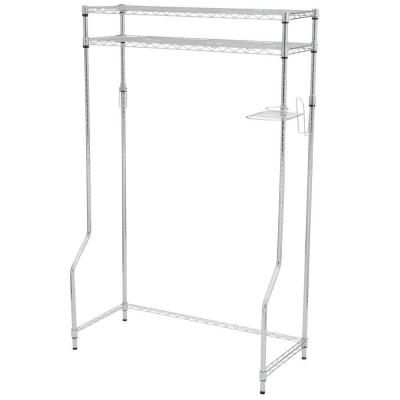 44 in. W x 68 in. H x 20 in. D Dorm Space Saver in Chrome