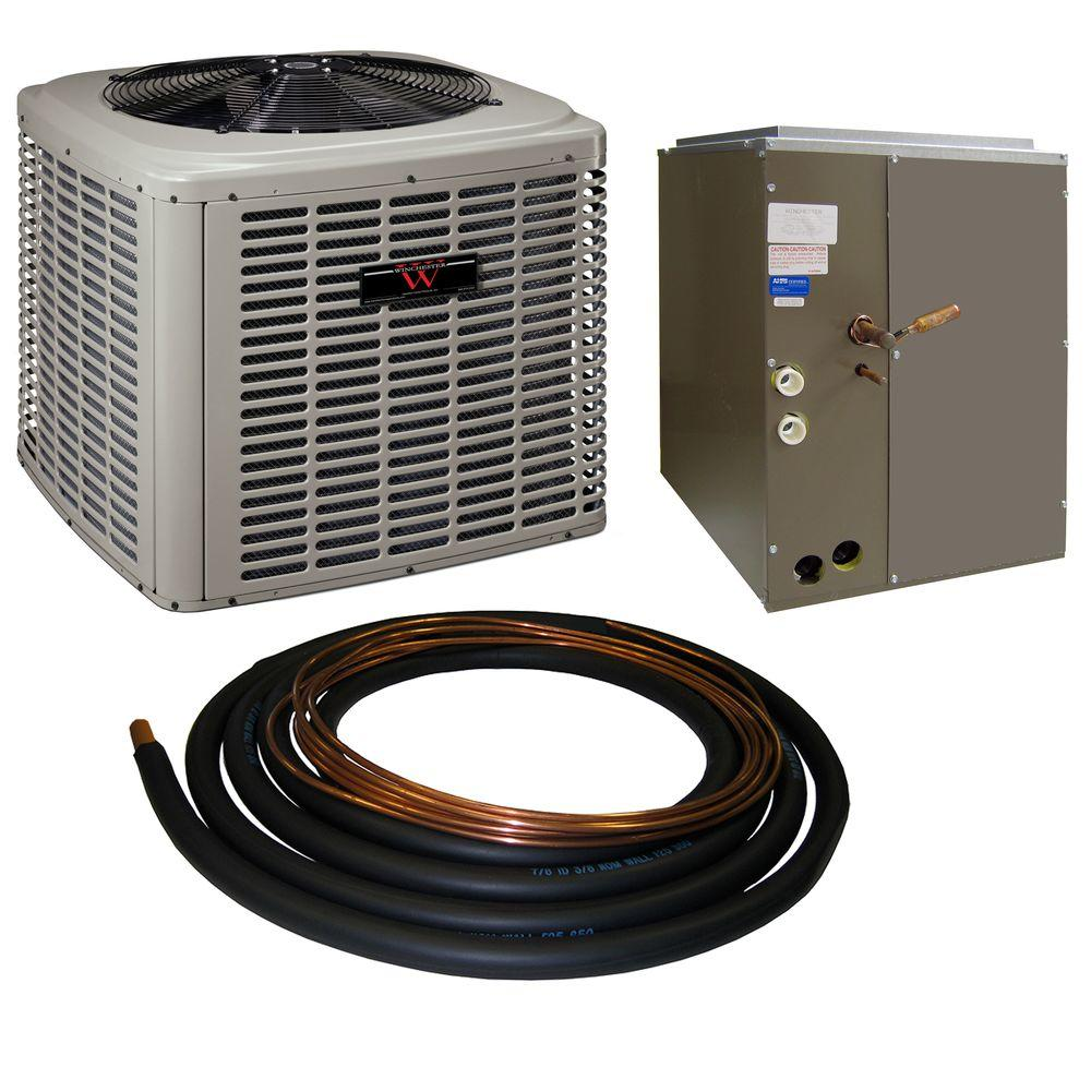Winchester 3 Ton 13 SEER Sweat A/C System with 17.5 in. Coil and 30 ft. Line Set