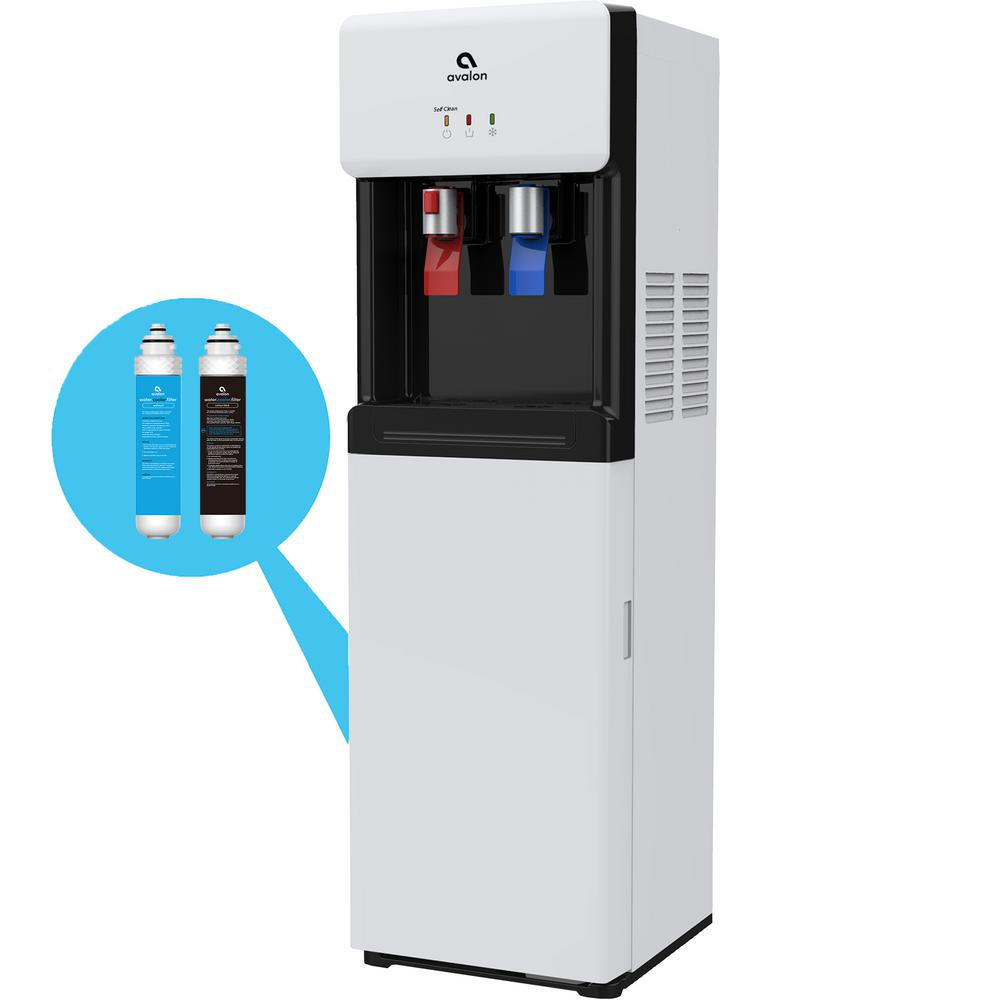 Bottle-Less, Self-Cleaning Water Cooler Dispenser with Hot/Cold Water, Filter