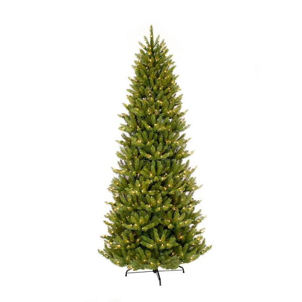 7.5 ft. Pre-Lit Slim Fraser Fir Artificial Christmas Tree with 500 Clear Lights