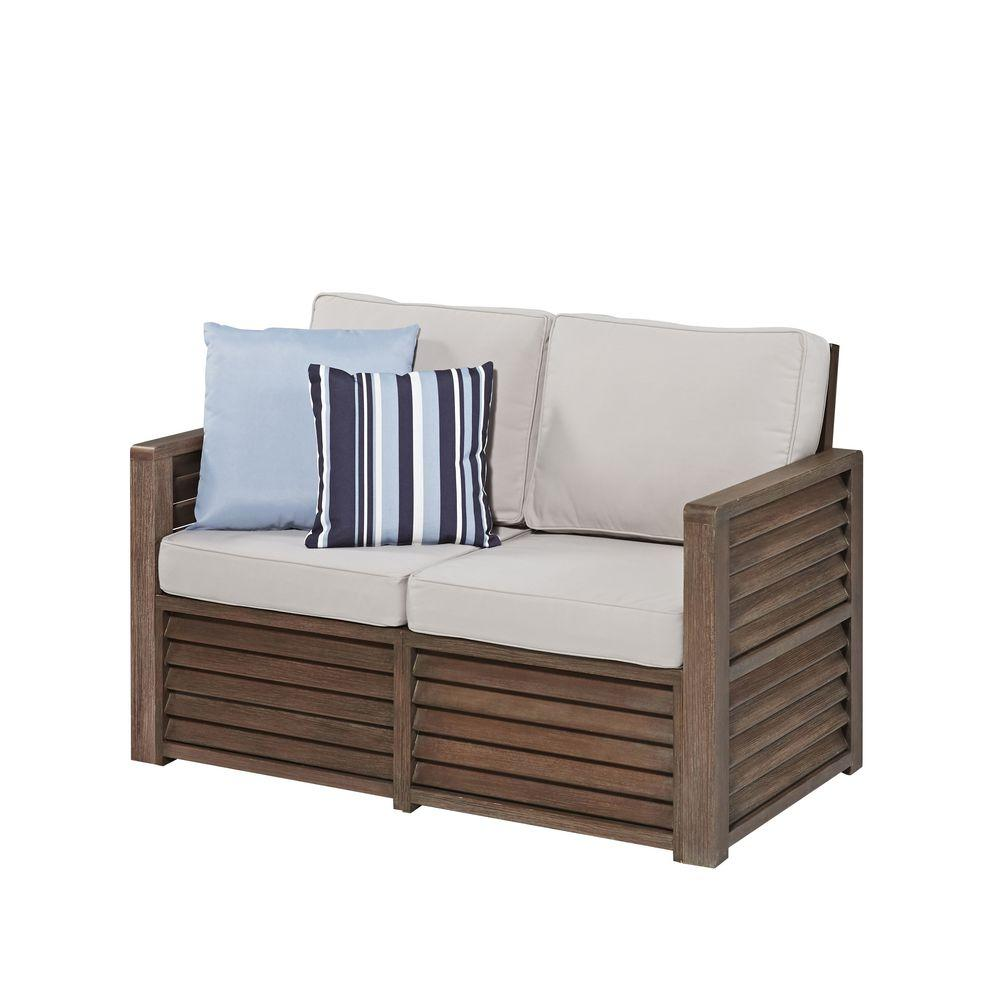 Home styles barnside steel gray polyester loveseat 5516 for Homestyles com