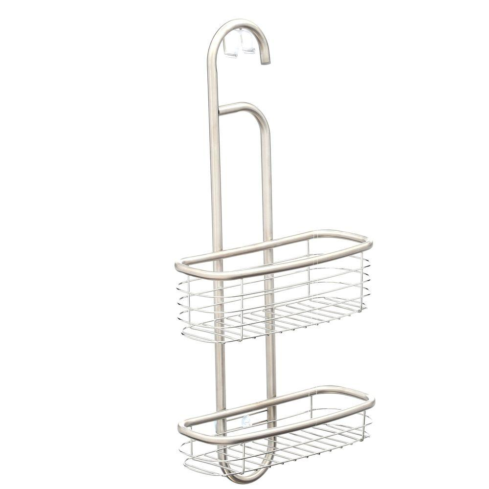interDesign Forma 20-1/2 in. Ultra Shower Caddy in Brushed Stainless ...
