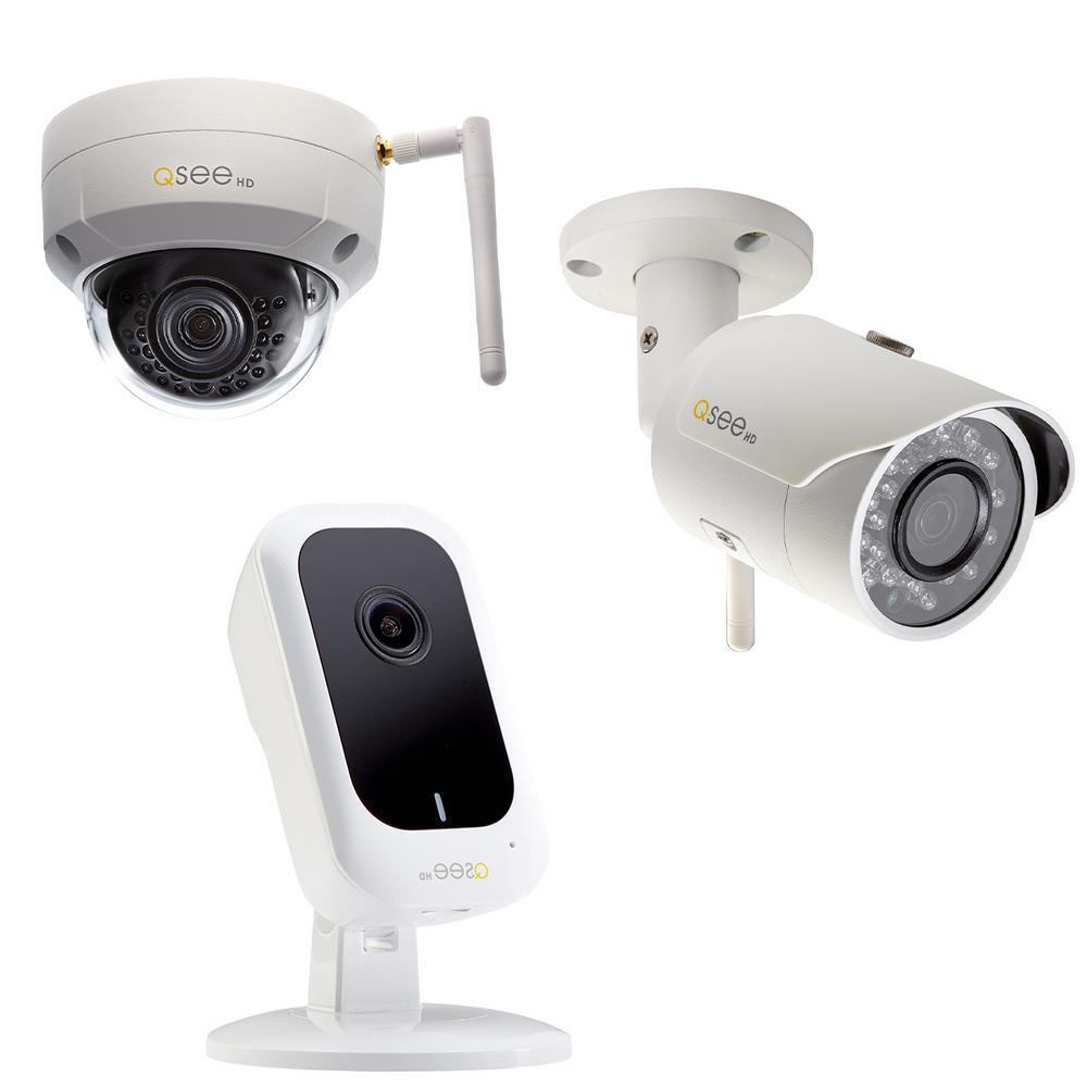 3MP Wi-Fi IP Mini Cube Camera, 3 MP Wi-Fi IP Dome Camera and 3MP Wi-Fi IP Bullet Camera Surveillance Bundle