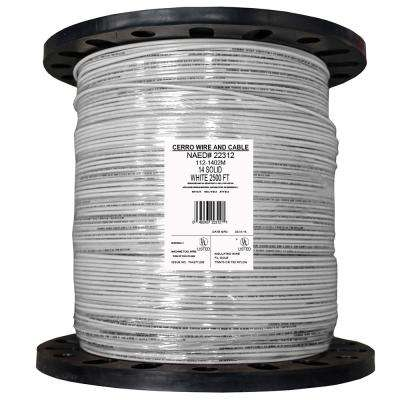 2500 ft. 14 White Solid THHN Wire