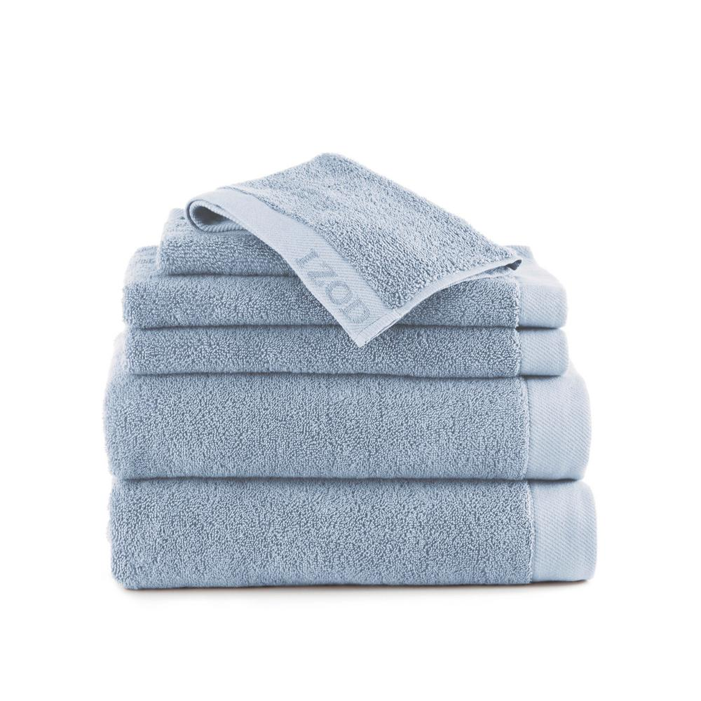 Classic 6-Piece Cotton Bath Towel Set in Angel Falls