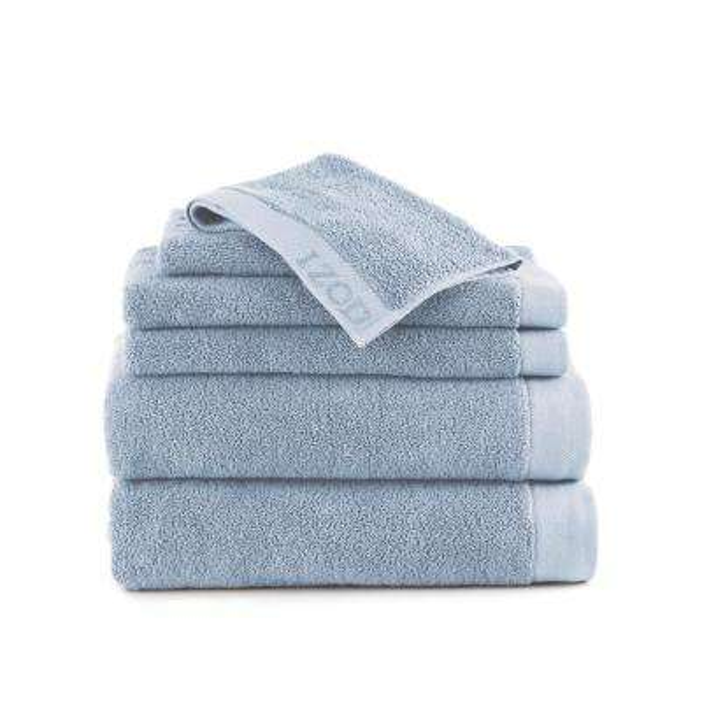 Classic 6-Piece Cotton Bath Towel Set in Angel Falls