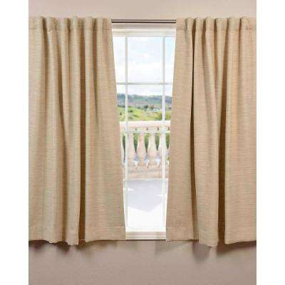 Semi-Opaque Candlelight Bellino Blackout Curtain - 50 in. W x 63 in. L (Panel)
