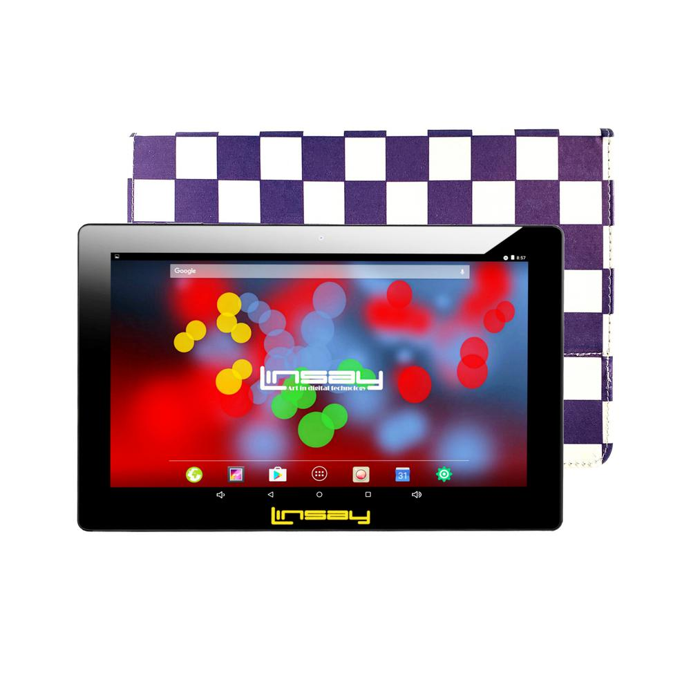 LINSAY 10.1 in. 1280x800 IPS 2GB RAM 16GB Android 9.0 Pie Tablet with Purple Square Case was $324.99 now $79.99 (75.0% off)