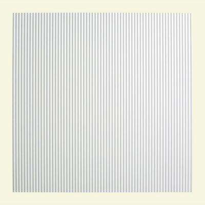 Rib - 2 ft. x 2 ft. Lay-in Ceiling Tile in Matte White