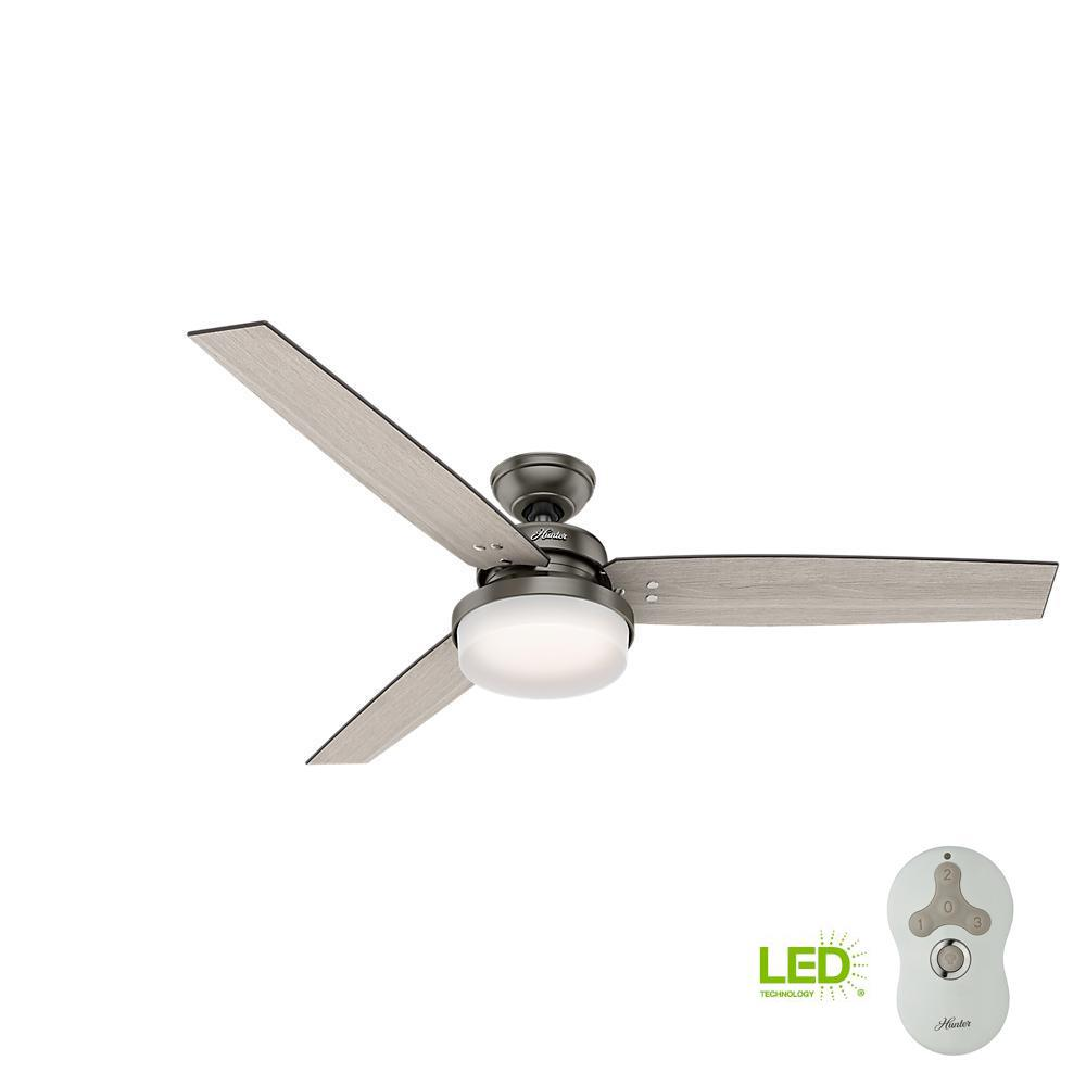 Hunter Sentinel 60 In Led Indoor Brushed Slate Ceiling Fan With Light Kit Wiring Diagram Further Integrated And