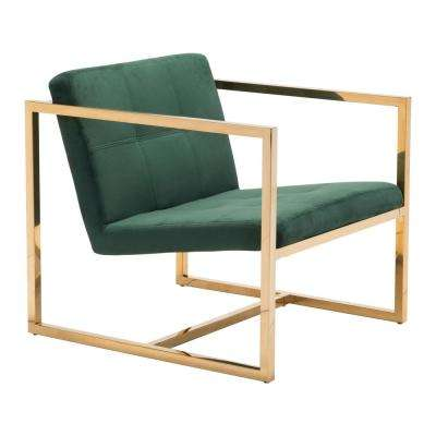 Alt Green Velvet Arm Chair
