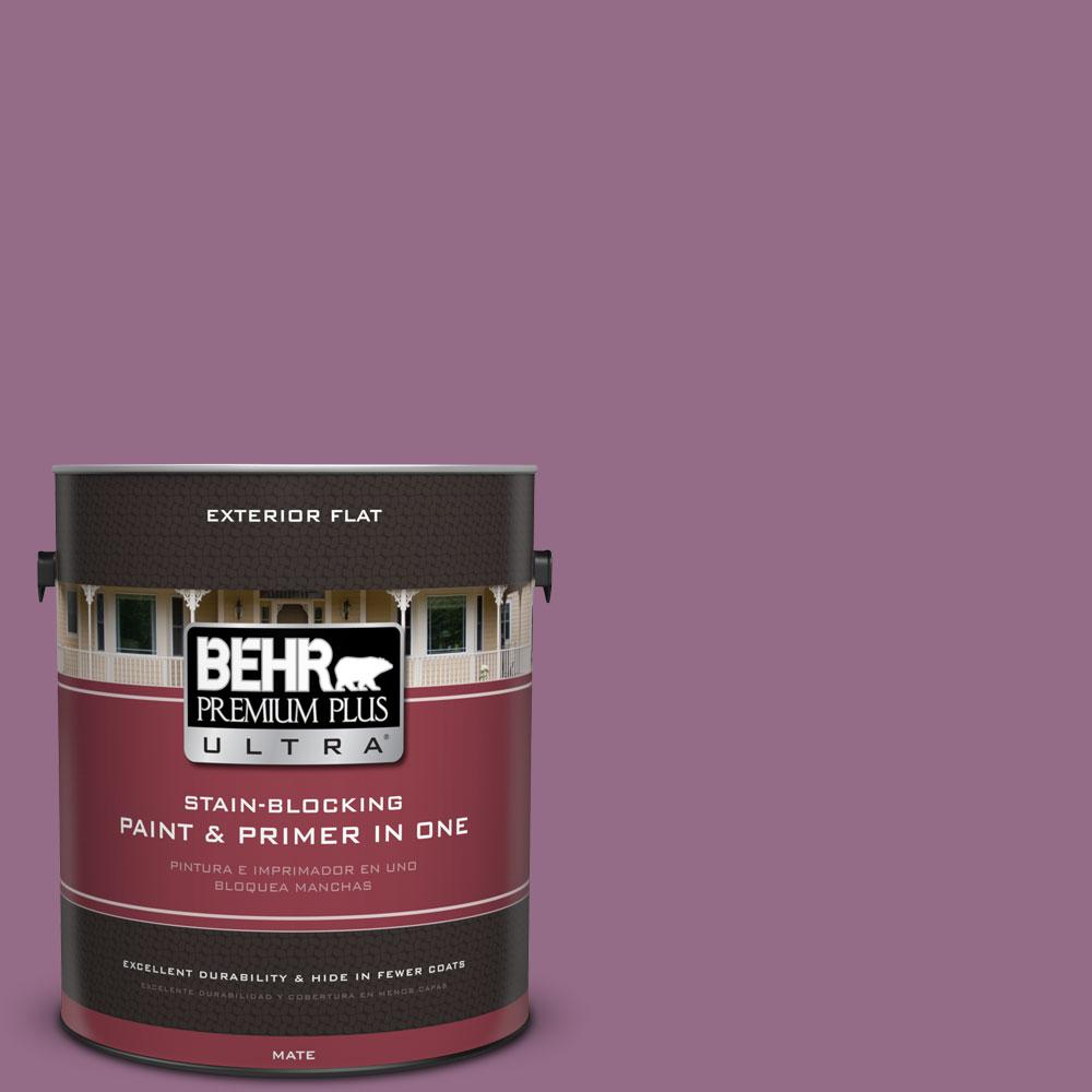 1-gal. #M110-6 Sophisticated Lilac Flat Exterior Paint