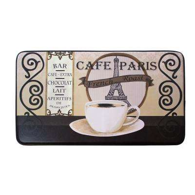 Chef Gear Cafe Paris 24 in. x 36 in. PVC Printed Anti-Fatigue Kitchen Mat