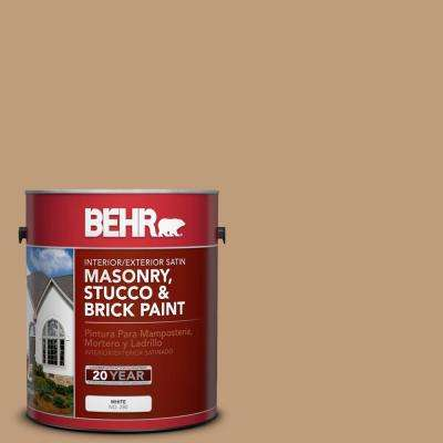 1 gal. #PPU4-06 Teatime Satin Interior/Exterior Masonry, Stucco and Brick Paint