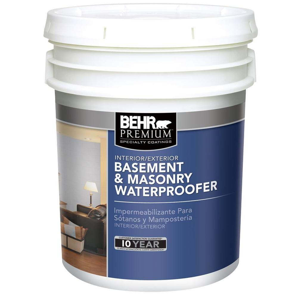 behr premium 5 gal basement and masonry interior exterior waterproofing paint 87505 the home