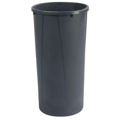 Centurian 22 Gal. Gray Round Trash Can (4-Case)