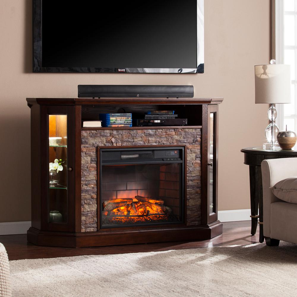 Bellingham 52.25 in. W Corner Convertible Infrared Media Electric Fireplace in