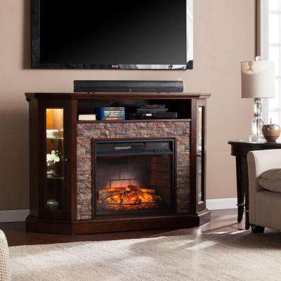 Bellingham 52.25 in. W Corner Convertible Infrared Media Electric Fireplace in Espresso