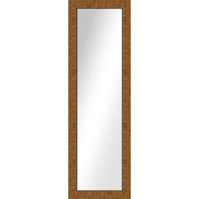 Large Rectangle Dark Gold Art Deco Mirror (51.5 in. H x 15.5 in. W)